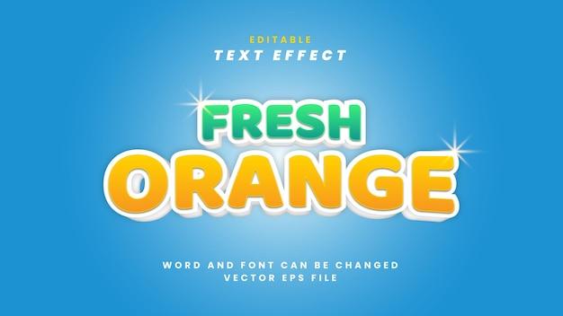 Efecto de texto naranja fresco