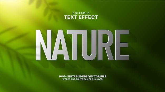 Efecto de texto de naturaleza verde