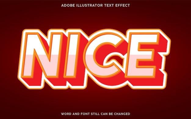 Efecto de texto en negrita 3d con color blanco y rojo