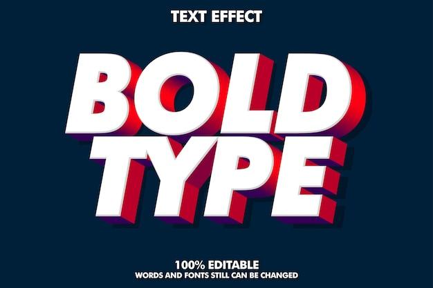 Efecto de texto en negrita 3d simple para un estilo de diseño moderno