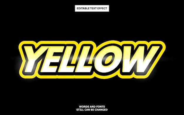 Efecto de texto en negrita amarillo