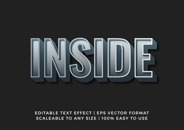 Efecto de texto en negrita plateado oscuro 3d