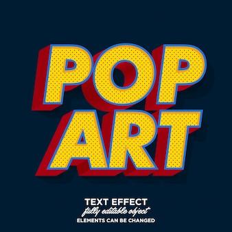 Efecto de texto en negrita pop art