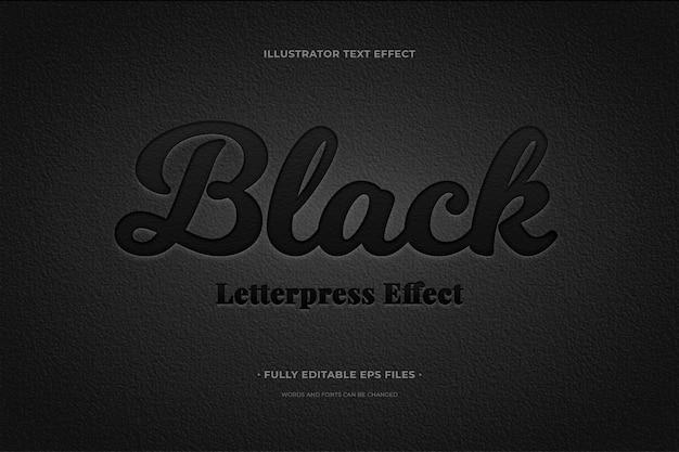 Efecto de texto negro