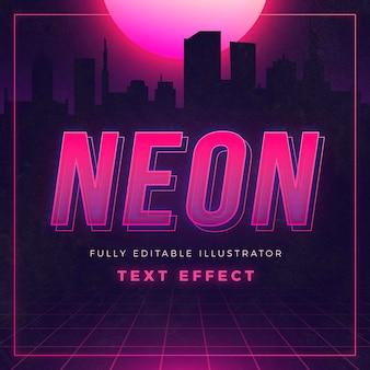 Efecto de texto de neón creativo