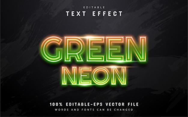 Efecto de texto de neón verde