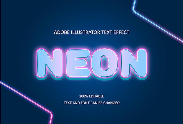 Efecto de texto de neón.