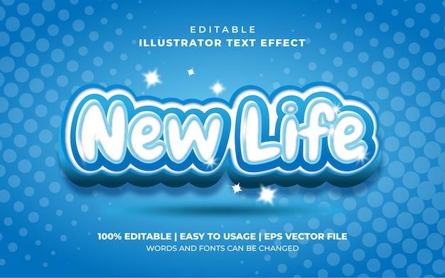 Efecto de texto de nueva vida