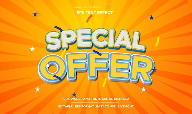 Efecto de texto de oferta especial editable