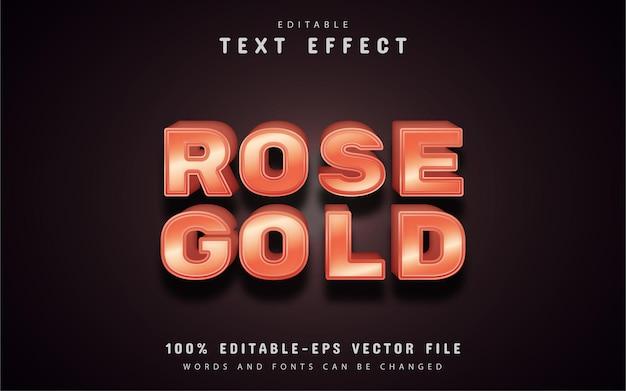 Efecto de texto de oro rosa