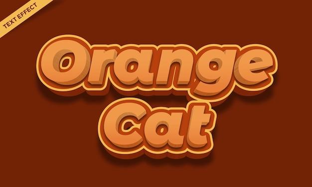 Efecto de texto de paleta de piel de gato naranja