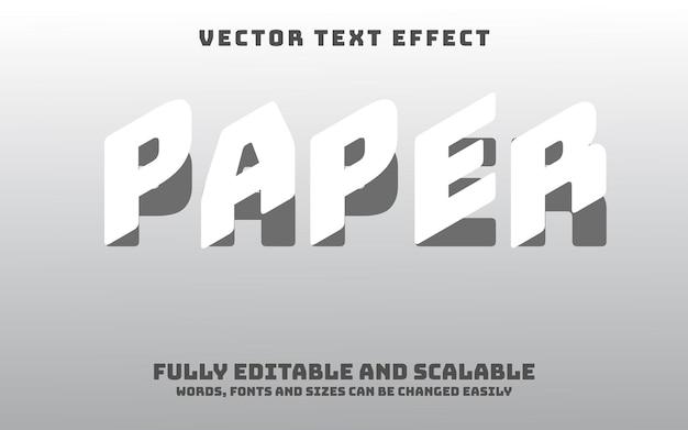 Efecto de texto de papel editable