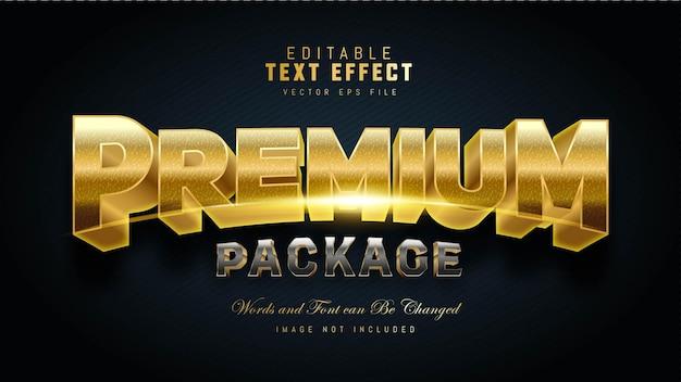 Efecto de texto de paquete premium