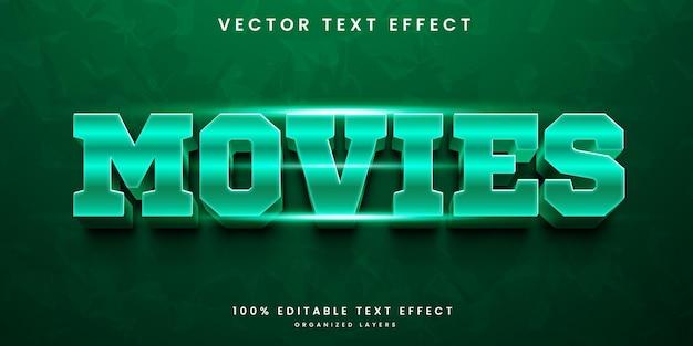 Efecto de texto de películas
