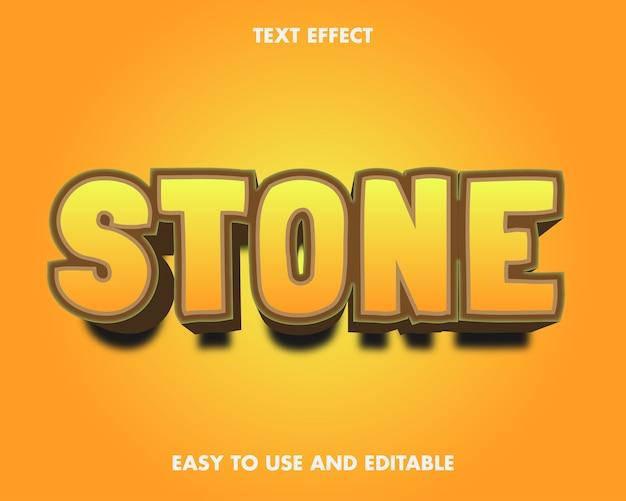 Efecto de texto de piedra. estilo de fuente editable.