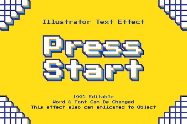 Efecto de texto de píxeles