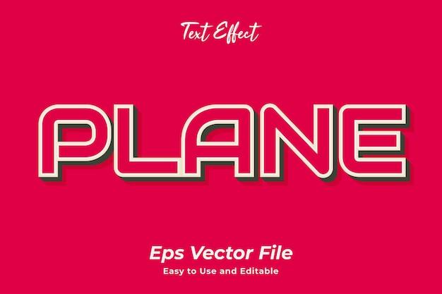 Efecto de texto planet editable y fácil de usar vector premium