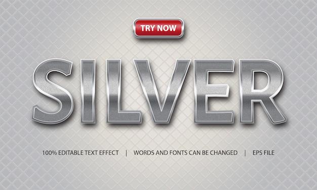 Efecto de texto: plata y lujo