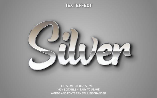 Efecto de texto de plata