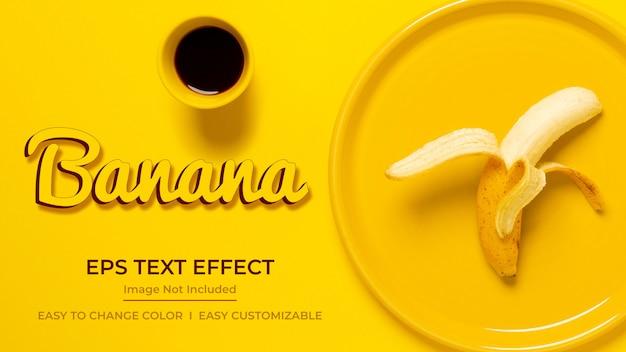 Efecto de texto de plátano