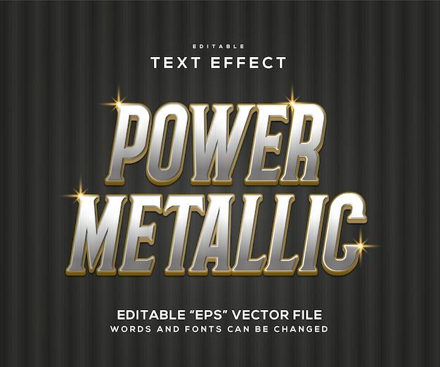 Efecto de texto plateado metalizado