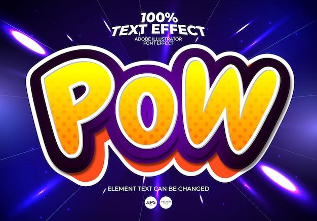 Efecto de texto pow