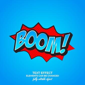 Efecto de texto premium boom