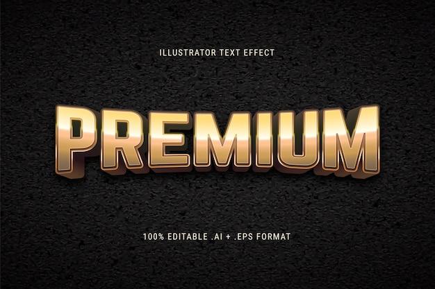 Efecto de texto premium dorado