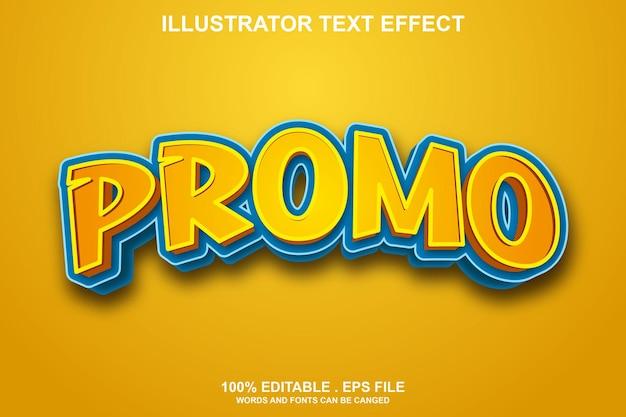 Efecto de texto promocional editable