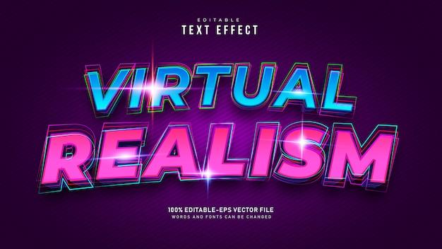 Efecto de texto de realidad virtual