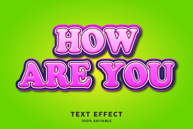Efecto de texto en relieve en negrita rosa