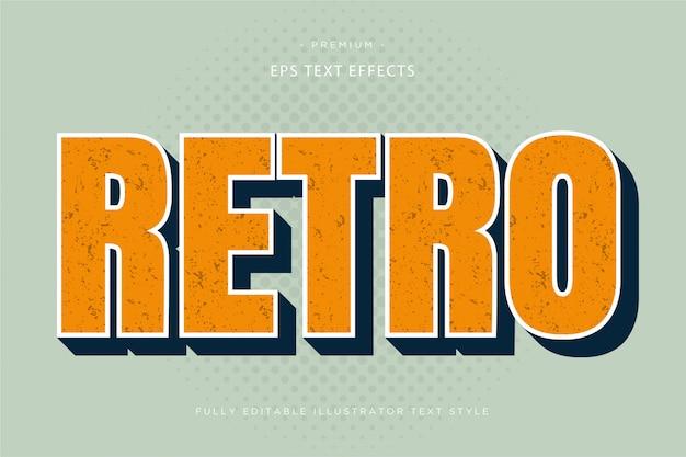 Efecto de texto retro 3d - estilo de texto 3d