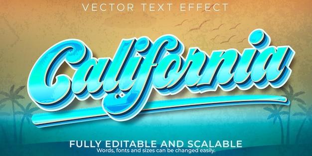 Efecto de texto retro, vintage, estilo de texto editable de los 70 y 80