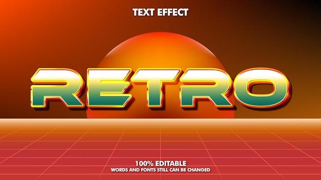 Efecto de texto retro vintage soleado