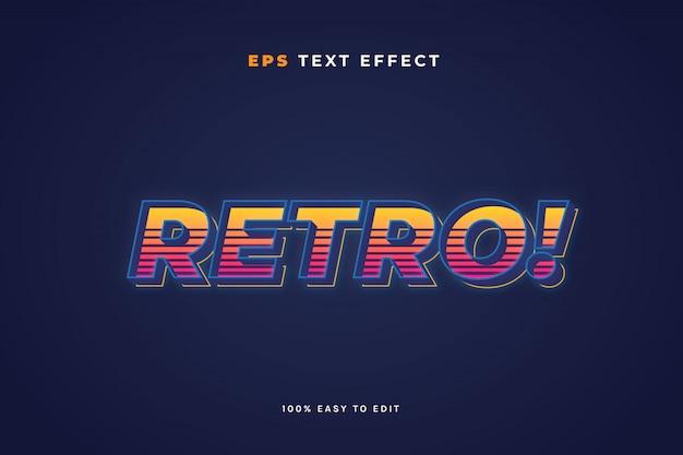 Efecto de texto retro
