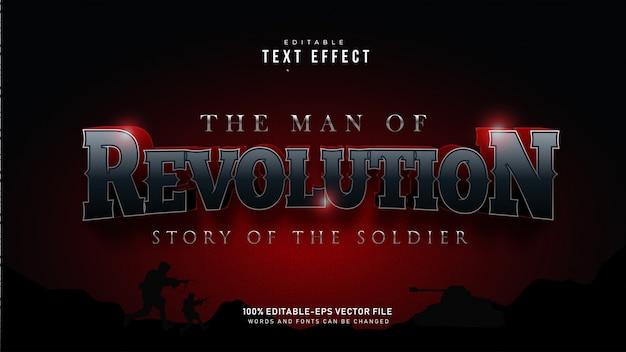 Efecto de texto de revolución