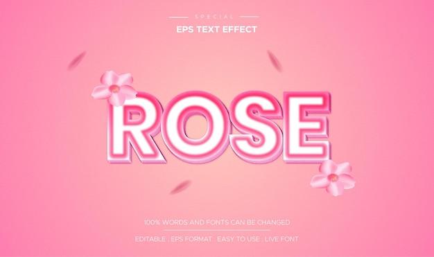 Efecto de texto rosa editable