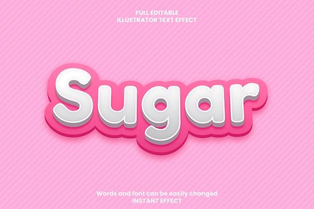 Efecto de texto rosa suave 3d