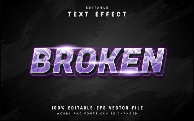 Efecto de texto roto con patrón