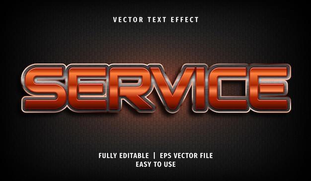 Efecto de texto de servicio, estilo de texto editable