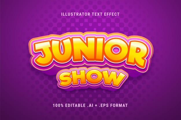 Efecto de texto de show junior