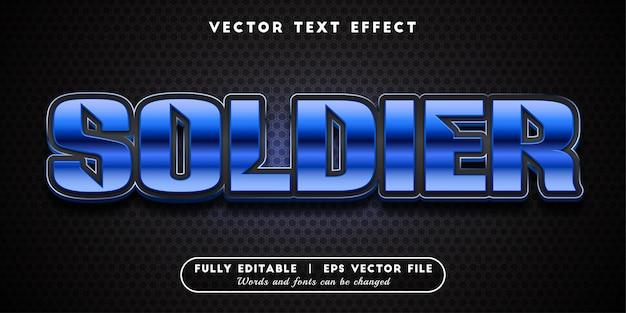 Efecto de texto de soldado, estilo de texto editable