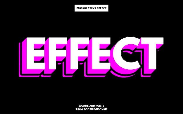 Efecto de texto de sombra 3d