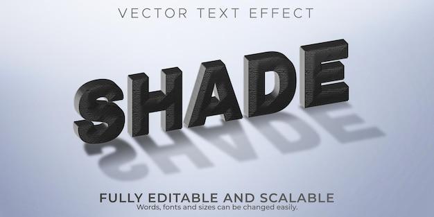 Efecto de texto sombreado, sombra editable y estilo de texto realista