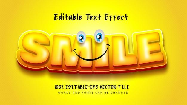 Efecto de texto de sonrisa