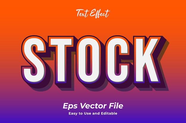 Efecto de texto stock editable y fácil de usar vector premium