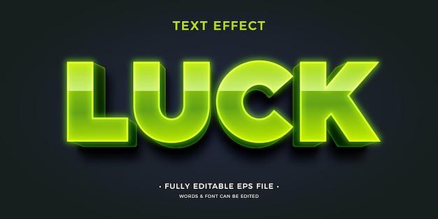 Efecto de texto suerte