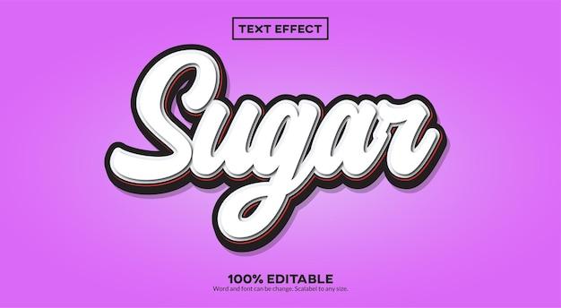 Efecto de texto sugar 3d