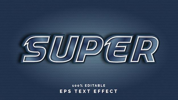 Efecto de texto súper 3d