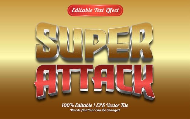 Efecto de texto de súper ataque